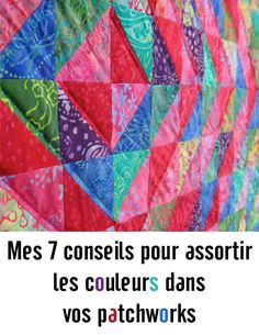 7 tips to match colors in your quilts- 7 tips to match colors in your quilts Source by aufildemma - Baby Couture, Couture Sewing, Canadian Smocking, Sewing Online, Arts And Crafts, Diy Crafts, Patch Quilt, Patches, Textiles