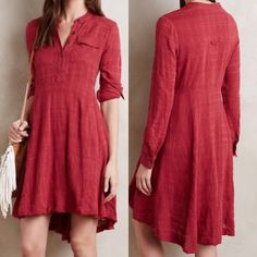 Anthropologie Harper dress Incredibly comfortable shirt dress by holding horses. Brand tag cut Anthropologie Dresses