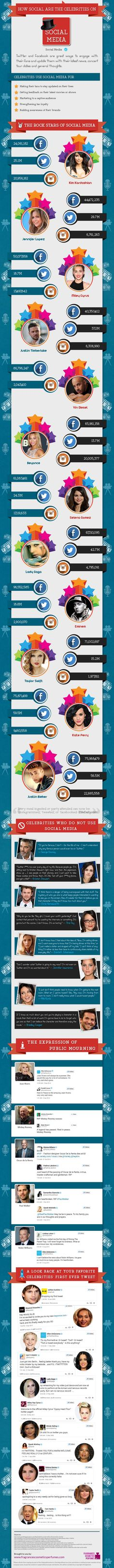 How Social are the Celebrities on Social Media #infographic #SocialMedia #Celebrities