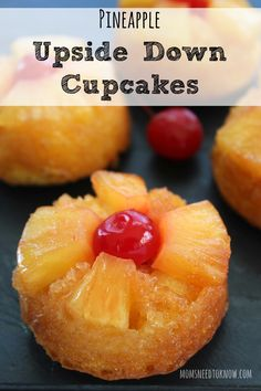These pineapple upside down cake cupcakes will take you back to your childhood!  I don't know why these aren't served as much these days - but they SHOULD!