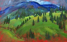 Miroslav Bucher olej 70x100Portret zeme-Karpaty2 Miro, Painting, Painting Art, Paintings, Paint, Draw