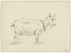 Jean Bernard | Staande geit, naar rechts, Jean Bernard, 1809 |