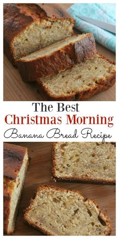 This simple and easy banana bread recipe will make your family think you have turned into a domestic goddess. It is light, fluffy, moist and oh so incredibly delicious. Just the smell coming from the oven is enough to drive you crazy for it. Holiday Bread, Christmas Bread, Christmas Christmas, Christmas Morning Breakfast, Healthy Banana Bread, Banana Bread Easy Moist, Oatmeal Banana Bread, Easy Bread, Eat Healthy
