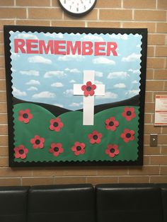 We work intelligently everyday to become a great Montessori School and one of the best Private Schools in Toronto Remembrance Day Activities, Remembrance Day Poppy, Classroom Bulletin Boards, Classroom Ideas, Best Private Schools, Bullentin Boards, Remember Day, Montessori, Baby Art