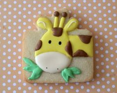 Cute giraffe cookie