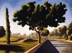 "Kenton Nelson, ""The Last Leg"" #kentonnelson, #americanpainter, contemporaryart, #trees, #landscape"