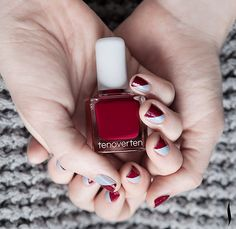 Fall two tone nails
