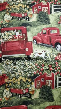 Country Living Pick Up Susan Winget Fabric 100% by MombieDesigns