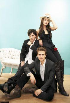 Vampire Diaries  Stefan  Damon   Elena  Paul Wesley  Ian Somerhalder  Nina Dobrev