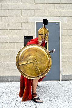 300's Ancient Greek Warrior #cosplay | MCM Comic con 2013 by SpirosK photography