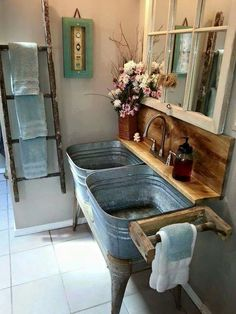 Love this for a mud room or bathroom