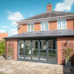 Check out our latest project, a stunning single-storey Kitchen Extension in Essex. Extension Veranda, Conservatory Extension, House Extension Plans, Cottage Extension, House Extension Design, Roof Extension, Extension Ideas, Garden Room Extensions, House Extensions