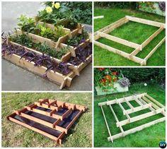 Slot Together Pyramid Garden Planter-DIY Vertical Pyramid Tower Raised Garden Beds