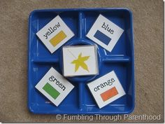 Tot tray - Matching Colors, looks easy and fun!