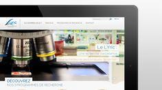 Webdesign & développement pour le LYRIC, Centre Léon Bérard