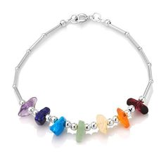 925 Sterling Silver Seven Chakra Balancing Natural Gemstones Amethyst Garnet Peridot Citrine Carnelian Lolite Apatite Stone Bracelet 7.5'' Spiritual Jewelry for Women, Teens - Nickel Free Chuvora. $22.99. Weight: 4.4 g. Length: 7.5'', Spring Ring Clasp. Packaging: Black Velvet Pouch. Mark .925 Sterling Silver. Matching necklace and earrings are also available for a complete set. Please search Amazon for NE0382MUL (Necklace) and ER0319MUL (Earrings). Save 49% Off!