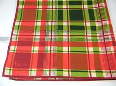 Vintage  vera scarf plaid tartan rolled edges by FeliceSereno, $10.00