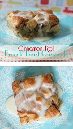 Cinnamon Roll French Toast Casserole Recipe! ~ give your ordinary cinnamon rolls a delicious makeover with this easy Breakfast and Brunch recipe! #casseroles #frenchtoast #recipes