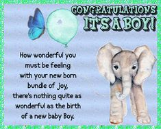 Celebrate the arrival of a gorgeous baby boy with this cute card. Free online Congratulations It's A Baby Boy ecards on Congratulations New Parents, New Moms, 123 Greetings, Congratulations To You, New Baby Cards, Blog Sites, New Baby Boys, Big Hugs, Name Cards
