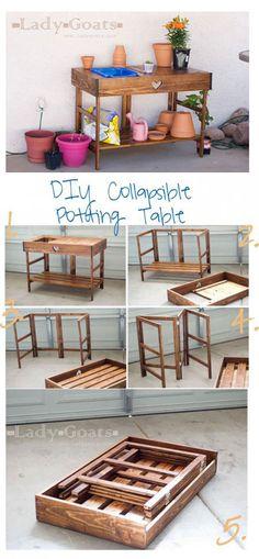 Collapsible Potting Table Plans! DIY, Furniture, hobby farming, gardening