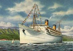 Cruise Ship History: This is MGM's 1930s musical HONOLULU aboard ...