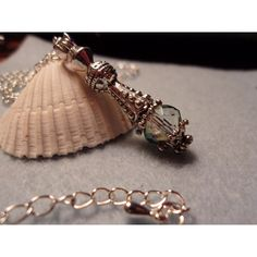 Gorgeous Jeannie in a Bottle Pendant, with chain, Unique, Czech Glass... ($21) ❤ liked on Polyvore featuring jewelry
