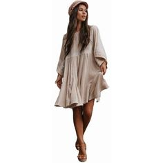 Vintage Solid Patch Lace Flare Sleeved Dress Boho Fashion, Fashion Outfits, Womens Fashion, Sleeved Dress, Latest Outfits, All About Fashion, Latest Fashion Trends, Casual Looks, Bohemian Style