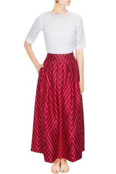 Red rani tama tulip skirt by PAYAL KHANDWALA # PAYALKHANDWALA #Designer #Skirt…