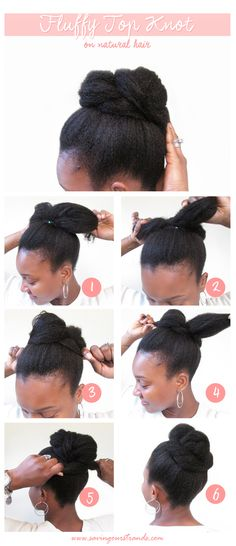 SavingOurStrands | Celebrating Our Natural Kinks Curls & Coils: Top Knot For Natural Hair | The #WashDayExperience