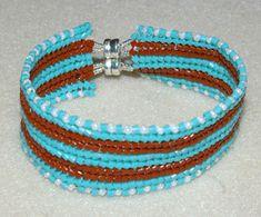 Free Beading Project: Banded Flat Herringbone Bracelet - Beading Instructions - Beading Daily