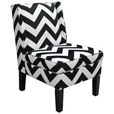 Chevron Black and White Zig Zag Wingback Accent Chair - Decor, White Chair, Chevron Chair, Wingback Chair, Chair, Furniture, Wingback Accent Chair, Home Decor, Chevron Accent Chairs