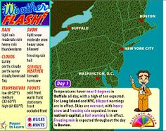 Weather Maps - Interactive Learning Sites for Education Weather Experiments, Weather Activities, Science Activities, Science Ideas, Weather Science, Listening Activities, Science Classroom, Teaching Science, Science Education
