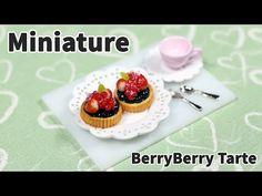 미니어쳐 베리베리 타르트 만들기 - Miniature Tarte - YouTube