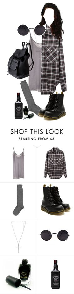 """""""effy stonem"""" by justkatieagain ❤ liked on Polyvore featuring Enza Costa, R13, Nordstrom, Dr. Martens, Wet Seal, Barry M and Pieces"""
