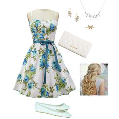 Easter Sunday by charmingly-chocolate07 on Polyvore featuring polyvore, fashion, style, Topshop, Vera Bradley, Sydney Evan, Blu Bijoux and Mondevio