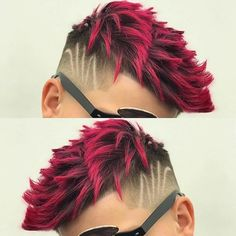 48 Awesome Hair Color Ideas for Men in 2018 - Men's Hairstyles - Bright Red - Mens Hair Colour, Red Hair Color, Cool Hair Color, Purple Hair, Hair Colors, Boys Colored Hair, Coloured Hair, Mens Medium Length Hairstyles, Boy Hairstyles