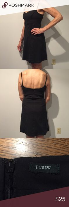 J•Crew Tank Dress Lightweight, knee length spaghetti strap dress. Cotton/Lycra blend and machine washable. Worn and washed several times but in great condition! J. Crew Dresses