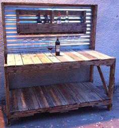 could be a bar - or a smaller version could be a gardening station