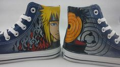 #naruto shoes custom naruto shoes anime hand painted shoes,High-top Painted Canvas Shoes