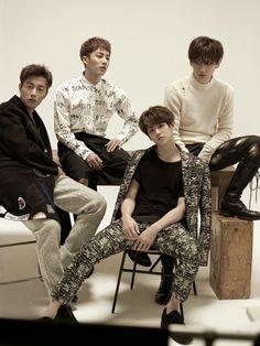 BEAST's Yoon Doo Joon, Yang Yo Seob, Lee Ki Kwang and Jang Hyun Seung High Cut Magazine Vol.139