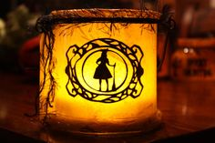 Bats & Broomsticks Lantern by DBastarache on Etsy, $24.50
