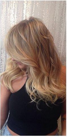 blonde hair lingerie extensions