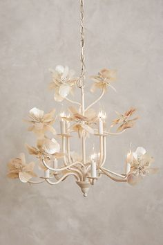 Pearled Magnolia Chandelier #anthropologie