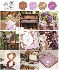 Wedding Inspiration Mood Board # 17 {Copper and Lavender} by Elizabeth Andres Designs in Dubai.