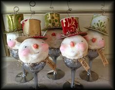 Colleen's whimsical snowmen are absolutely precious!!! colleenmoody.blogspot.com