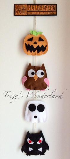 Halloween home decoration in felt just using owl die 557694 by Sizzix! Decorazione di Halloween per la casa in feltro usando solo la fustella gufo 557694 by Sizzix!