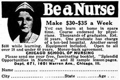 Ad for nursing degree