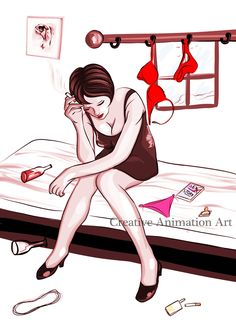 Emotions with own Feelings. Girls have so many emotions to describe but she can't shows to anyone...