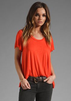 Pencey Standard Peasant Top in Red