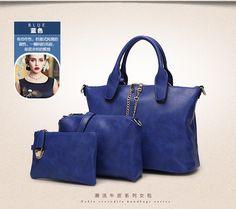 3 Pcs/Set Vintage Handbags Women Messenger Bags Female Purse Solid Shoulder Bags Office Lady Casual Tote 2015 New Top-Handle Bag